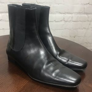 5 COLE HAAN Black Slip on Very Chic Ankle Boots